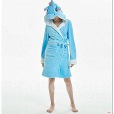 Халат Кигуруми Единорог Голубой