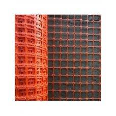 Аварийное ограждение арт. А-45/2/25 ячейка: Квадрат 40х45мм Рулон: 2х25м, Оранжевый