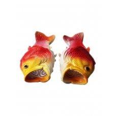 Тапочки Рыбашаг желто-красные