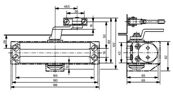 Доводчик дверной DORMA TS77